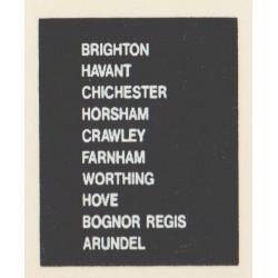 D82 BRIGHTON BOGNOR REGIS HAVANT HORSHAM CRAWLEY ARUNDEL HOVE CHICHESTER FARNHAM WORTHING