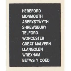 D83 BETWS Y COED WREXHAM TELFORD GREAT MALVERN ABERYSTWYTH HEREFORD SHREWSBURY LLANGOLEN WORCESTER MONMOUTH