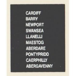 D84 CARDIFF BARRY NEWPORT SWANSEA LLANELLI ABERGAVENNY ABERDARE PONTYPRIDD CAERPHILLY