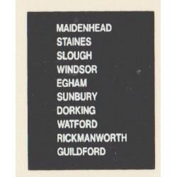 D85 MAIDENHEAD STAINES GUILDFORD SLOUGH RICKMANSWORTH EGHAM SUNBURY WATFORD WINDSOR DORKING