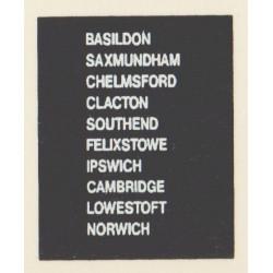 D86 IPSWICH NORWICH CHELMSFORD CLACTON SAXMUNDHAM BASILDON FELIXSTOWE CAMBRIDGE SOUTHEND LOWESTOFT