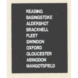 D87 READING FLEET OXFORD SWINDON MANGOTSFIELD BASINGSTOKE GLOUCESTER ALDERSHOT BRACKNELL ABINGDON