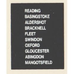 D87 READING FLEET OXFORD SWINDON MANGOTSFIELD BASINGSTOKE GLOUCESTER ALDERSHOT BRACKNELL ABINGDON
