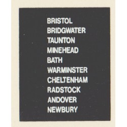 D88 BRISTOL BRIDGWATER CHELTENHAM WARMINSTER MINEHEAD RADSTOCK TAUNTON BATH NEWBURY ANDOVER