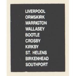D89 LIVERPOOL WARRINGTON ORMSKIRK WALLASLEY BIRKENHEAD ST. HELENS SOUTHPORT BOOTLE CROSBY KIRKBY