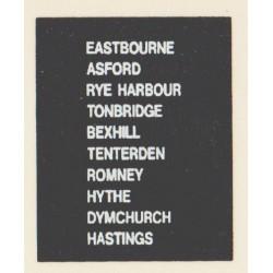 D90 EASTBOURNE RYE HARBOUR ASHFORD DYMCHURCH TENTERDEN HASTINGS TONBRIDGE BEXHILL ROMNEY HYTHE