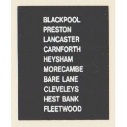 D91 BLACKPOOL PRESTON HEST BANK BARE LANE LANCASTER CLEVELEYS CARNFORTH FLEETWOOD HEYSHAM MORECAMBE