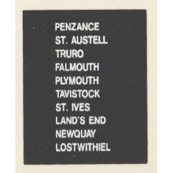 D97 PENZANCE ST AUSTELL LANDS END LOSTWITHIEL TAVISTOCK ST. IVES PLYMOUTH NEWQUAY FALMOUTH TRURO