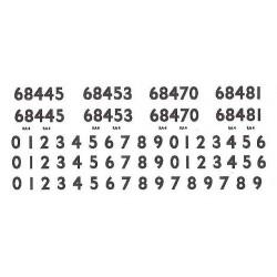 G812 Smoke Box & Cab Side Numbers (including spares) for Ex LNER Class J83 0-6-0T, Nos. 68445, 68453, 68470, 68481.
