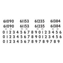 G802 Smoke Box & Cab Side Numbers (including spares) for Ex LNER Class B1 4-6-0, Nos. 61090, 61153, 61235, 61384.
