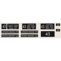 RM0430 43 LONDON BRIDGE & FRIERN BARNET COLNE & HATCH