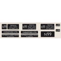 RMN990 N99 CHINGFORD STATION and VICTORIA & ALBERT DOCKS VIA GREENGATE