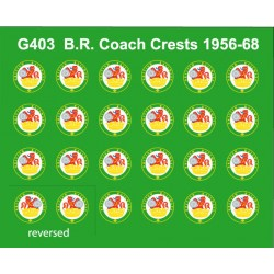 MMG403 12 Pairs of 1956 - 68 style Coaching Stock Crests (Also used on some Locos & DMU /EMU Power Cars)